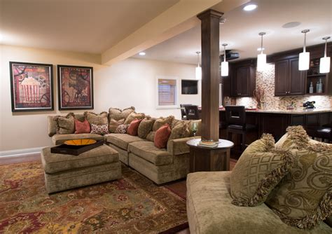 cozy home interiors cozy home theater traditional basement other metro
