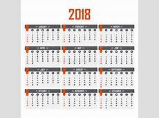Calendario Para 2018 Comienzo De La Semana El Domingo