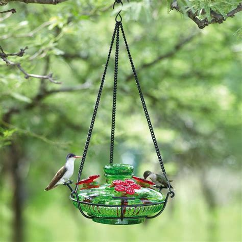 parasol bloom perch glass hummingbird feeder choose from