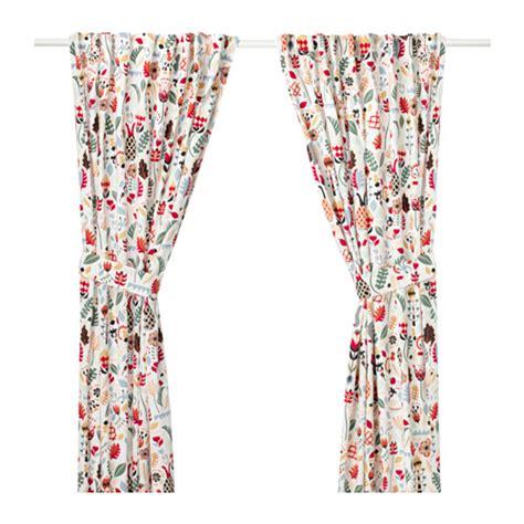 r 214 darv curtains with tie backs 1 pair ikea