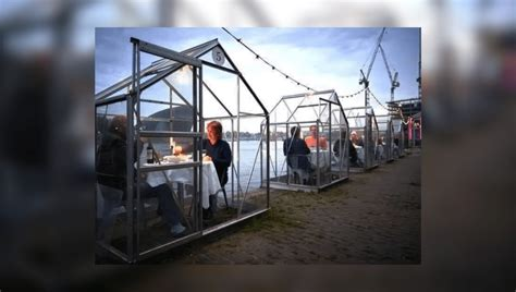 dutch restaurants letting people dine  personal pods