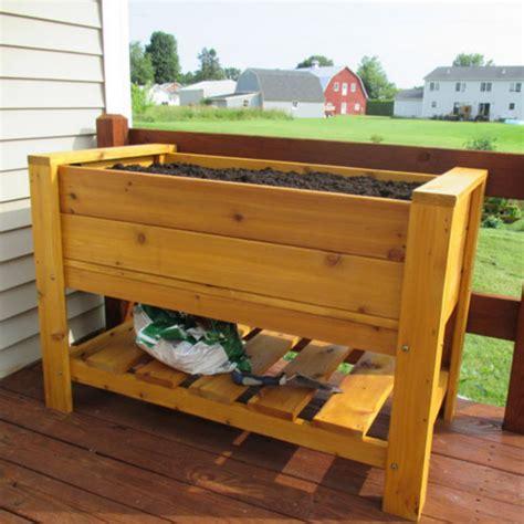 cedar planter box infinite cedar elevated planter box with shelf ebay