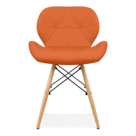 eames inspired upholstered orange butterfly dining chair