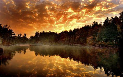 Reflected Lake Autumn Water Nature Desktop 1680x1050 Hd