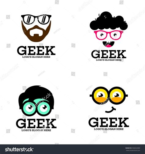 Templates Nerd by Geek Nerd Smart Logo Design Template Stock Vector