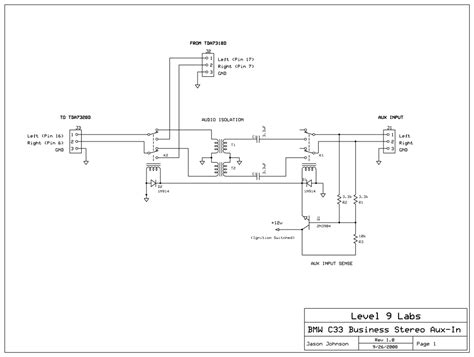building   aux circuit car stereo feedback
