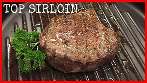 cooking sirloin steak on the grill tenderized