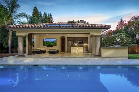 pool house designs with outdoor kitchen saratoga pool house kitchen ca porcelanosa 9146