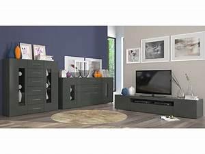 Meuble Gris Anthracite : meuble tv daiquiri gris anthracite brillant ~ Teatrodelosmanantiales.com Idées de Décoration
