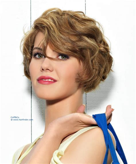 New short hairstyle   Very short bob with waves that is