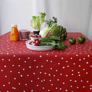 Nappe Enduite Au Mètre : nappe enduite ronde ou ovale confettis rouge ~ Teatrodelosmanantiales.com Idées de Décoration