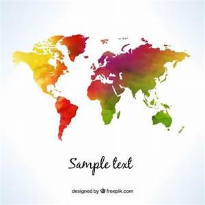 Carte Du Monde Design : carte du monde dans le style d 39 aquarelle t l charger des vecteurs gratuitement ~ Teatrodelosmanantiales.com Idées de Décoration