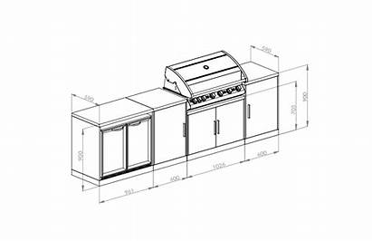 Outdoor Kitchen Oxley Bbq Package Line Cabintery