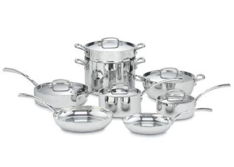 cuisinart fct  french classic tri ply stainless  piece cookware set cookware set stainless