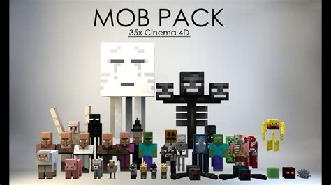 Minecraft Cinema 4d Mob Pack