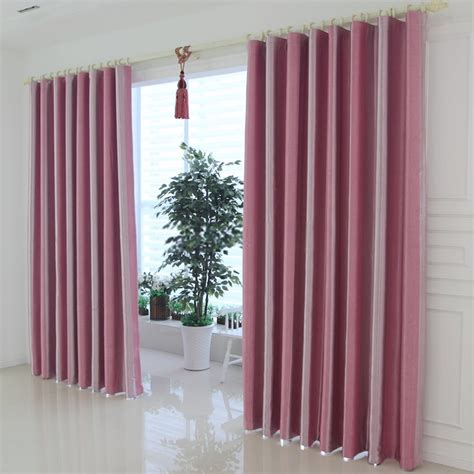 pink and white striped curtains give your causal