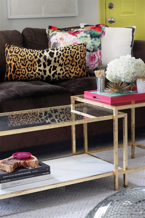 Ikea Glass Living Room Table by Diy Tuesday Easy Gold Ikea Coffee Table Hack