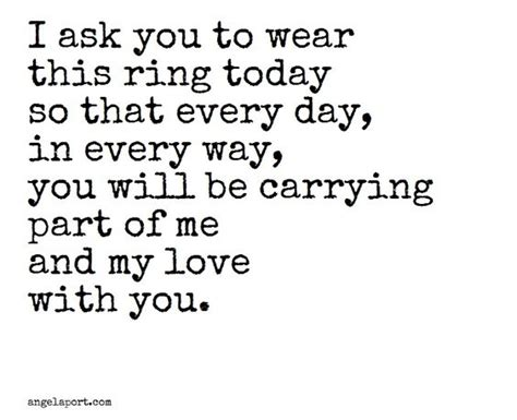 as part of a ring exchange angelaport vows quotes and words