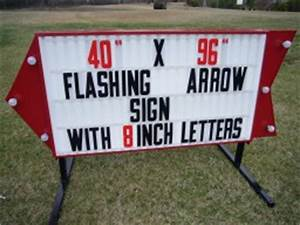 model a 20 special outdoor sign outdoorletterscom With flashing arrow sign letters