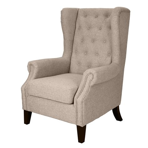 tufted linen chair sears