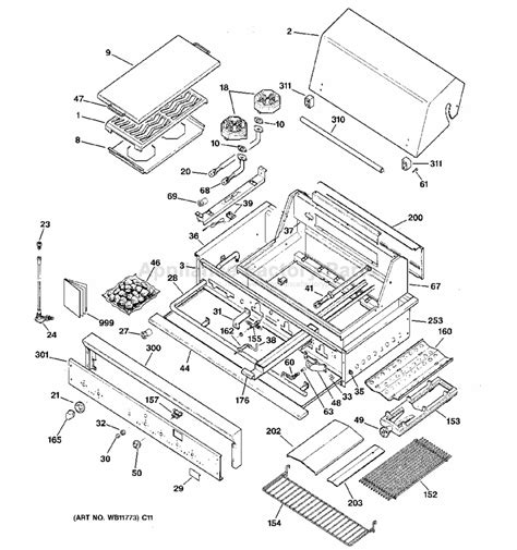 ge zgglass bbq parts