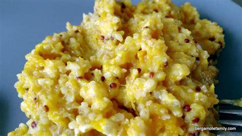 cuisiner un potiron quinoa au potiron pour bébé façon risotto bergamote family