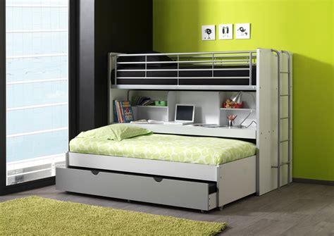 lit superposé combiné bureau lits enfant superposés combiné avec tiroir lit blanc bleu