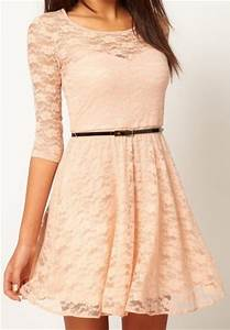 Light Pink Lace Dress - Pjbb Gown