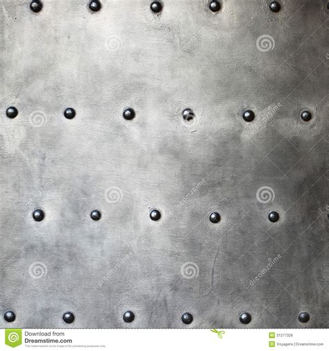 black metal plate  armour texture  rivets stock