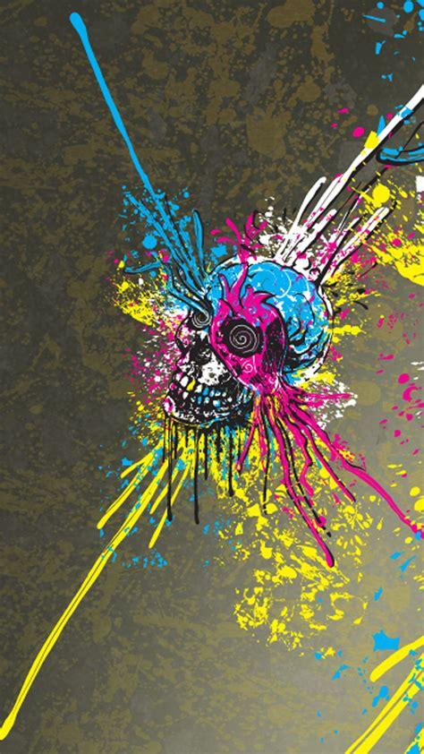 Skulls Artwork By Paint