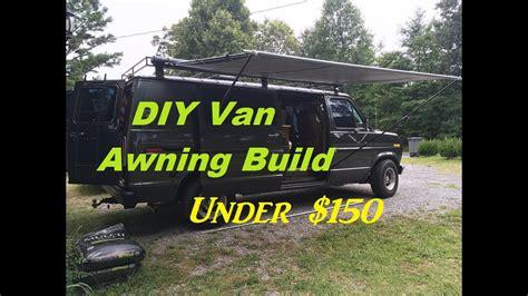 Diy Retractable Camper Van Awning Build For Under 0