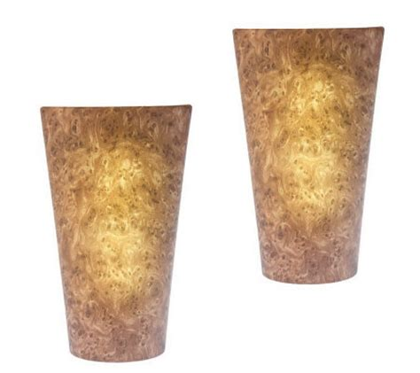set of two battery powered wall sconce qvc