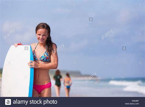 Preteen Girl In Bikini Standing Stock Photos Preteen