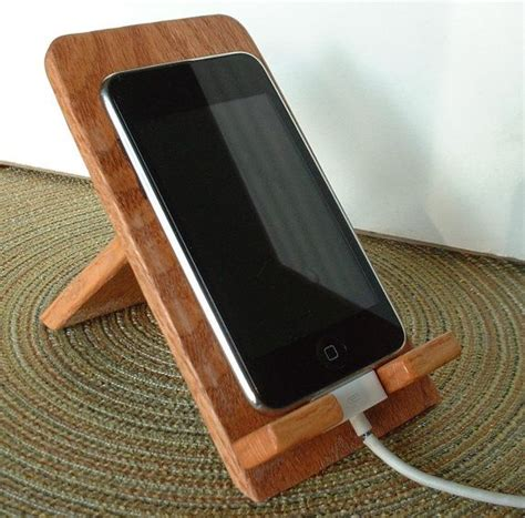 wooden iphone stand iphone ipod touch smart phone crafted wooden holder