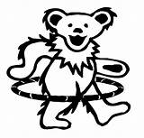 Grateful Dead Dancing Bear Bears Hula Drawing Hoop Coloring Decal Greatful Hooping Tattoo Teddy Template Diecut Artwork Skull Sticker Prosportstickers sketch template