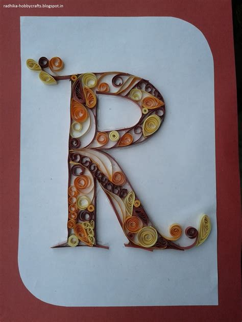 hobby crafts quilled monogram