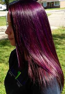 red and violet highlights | Purple highlights w/ a red ...