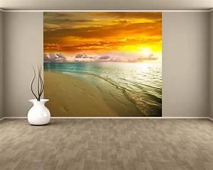 Fototapete Auf Raufaser : fototapete sonnenuntergang am strand ii tapeten urlaub sonne meer ~ Markanthonyermac.com Haus und Dekorationen