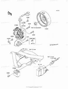 Kawasaki Motorcycle 2010 Oem Parts Diagram For Generator