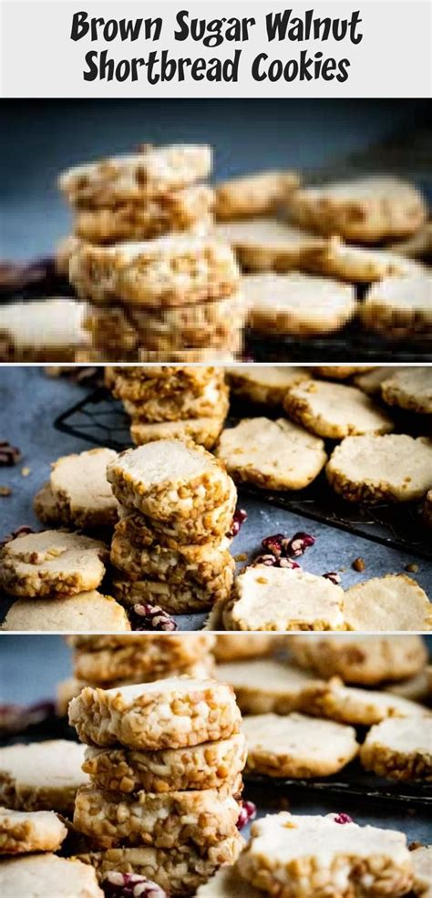 Combine dry ingredients and mix very, very well. These Brown Sugar Walnut Shortbread Cookies give you ...