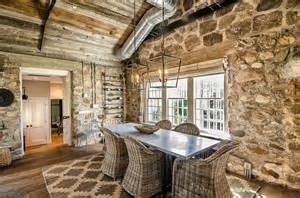 Rustic Chic Dining Room by 15 Gorgeous Dining Rooms With Stone Walls