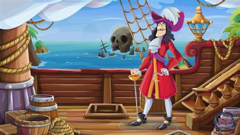 ship  captain hook cartoon peter pan disney wallpaper hd