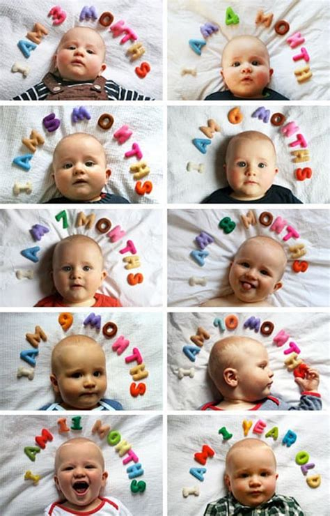 babys st year creative monthly baby photo ideas daily mom