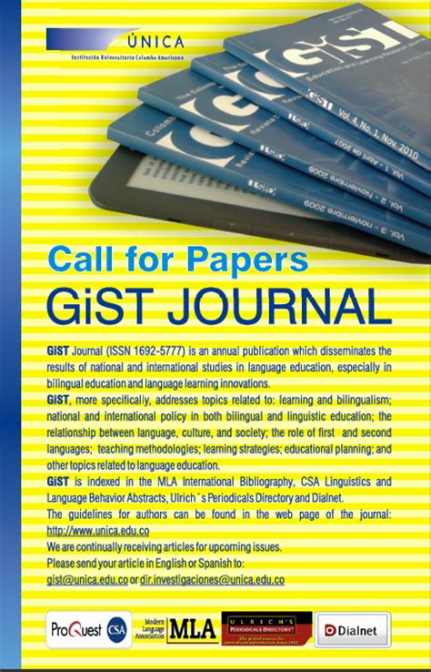 gist education  learning research journal marzo