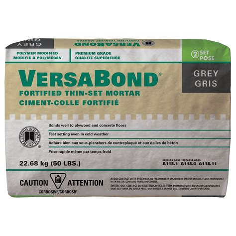 custom building products versabond fortified thin set mortar 50 lb 22 7 kg the home depot