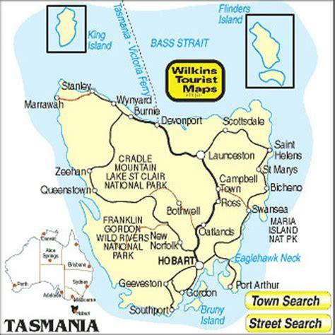 detailed map  tasmania compressportnederland
