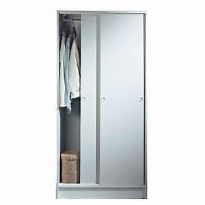 hemnes armoire 2 portes coulissantes ikea en bois massif With porte de douche coulissante avec armoire salle de bain faible profondeur