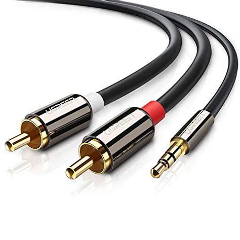 cinch auf aux stereo 3 5mm klinke auf 2 cinch y splitter chinch audio kabel aux kabel 2 meter ebay