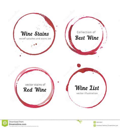 cercles de tache de vin illustration de vecteur image 53614941