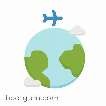 Travel Animated Globe Travelling Global Animation